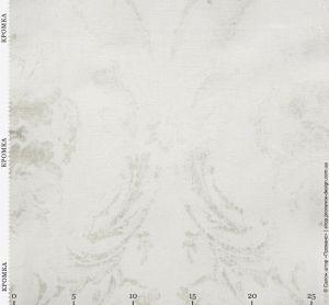 Молочная ткань с контурами вензеля
