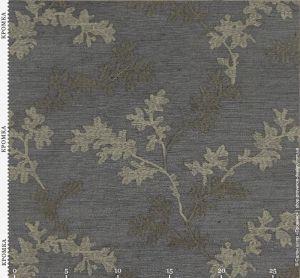 Ткань шоколадного цвета с вышивкой