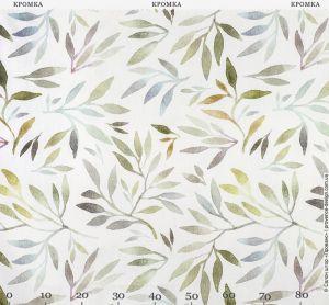 Ткань с листьями и веточками