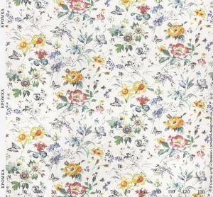 Ткань для штор с цветами и бабочками