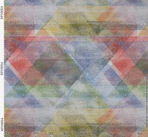 Ткань для штор с разноцветными ромбами