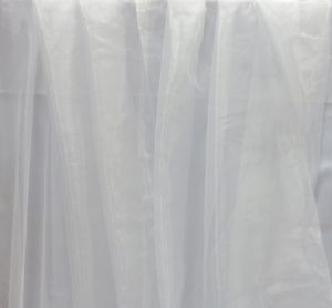 Тюль органза белого цвета