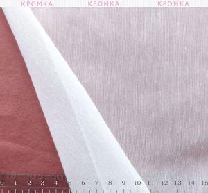 Тюль белая с легкой вертикальной полосой