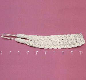 Подхват для штор матовый плетеный