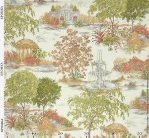 Ткань с растениями в стиле Прованс