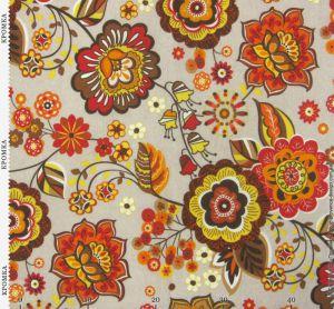 Ткань с цветами в народном стиле