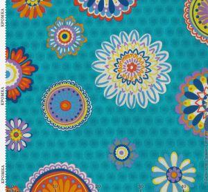 Ткань с россыпью стилизованных цветов