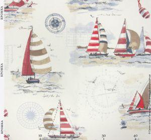 Ткань с изображениями в Морском стиле