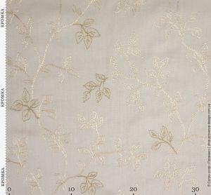 Ткань с текстурой льна и вышивкой