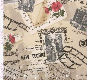 Ткань с розами в стиле Прованс и Ретро