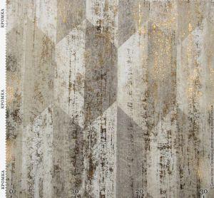 Ткань с блестящим винтажным принтом
