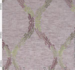 Ткань текстуры льна с вышивкой
