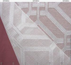 Тюль-сетка с геометрическим узором