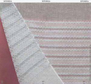 Тюль с мережкой и широкии полосами
