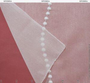 Тюль натуральной фактуры с вышивкой