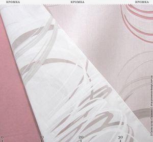 Тюль с принтом и прозрачными вставками