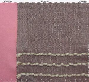 Плотный тюль с вышивкой полосками