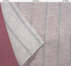 Тюль с фактурой тонкого льна и полосками