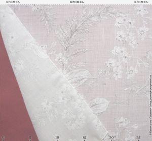 Полупрозрачный тюль с мелкими цветами