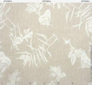 Ткань с растениями и бабочками