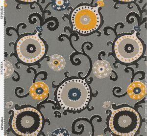 Ткань со стилизованными цветами