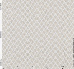Ткань для штор с рисунком типа шеврон белого цвета 09-41