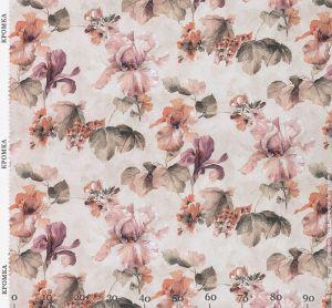Ткань с крупным цветочным принтом