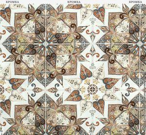 Ткань с рисунком в виде плитки