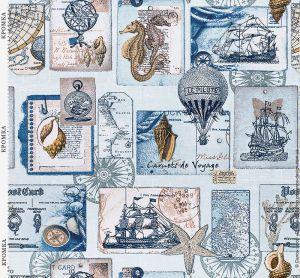 Портьерная ткань в Морском стиле