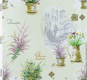 Ткань с цветами лаванды