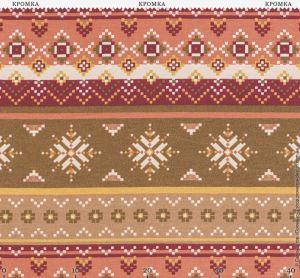 Ткань с нежным фольклорным орнаментом