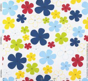 Ткань с цветочками в детском стиле