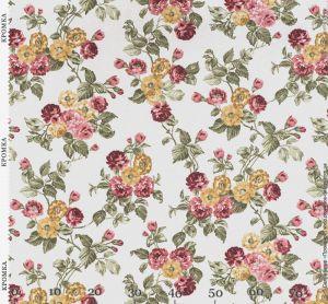 Портьерная ткань с цветами