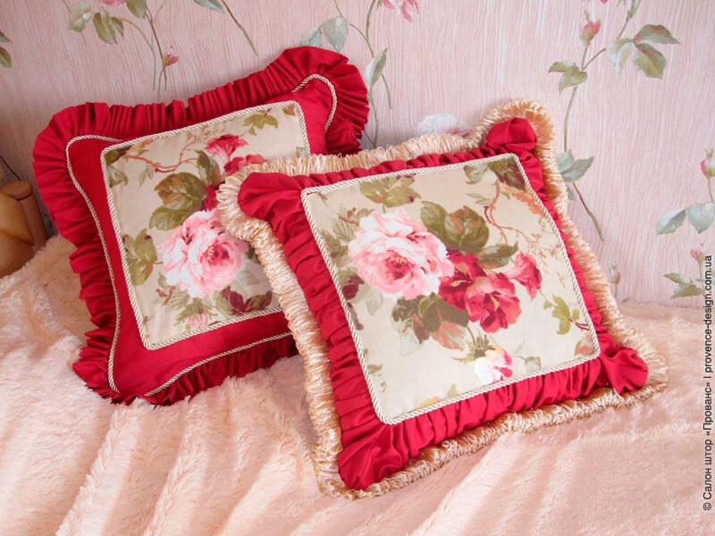 Наволочки из ткани с розами фото