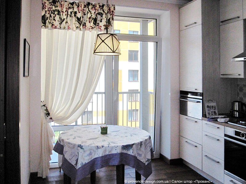 стиле прованс для кухни с балконом фото