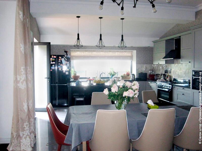 Шторы для кухни в стиле лофт фото
