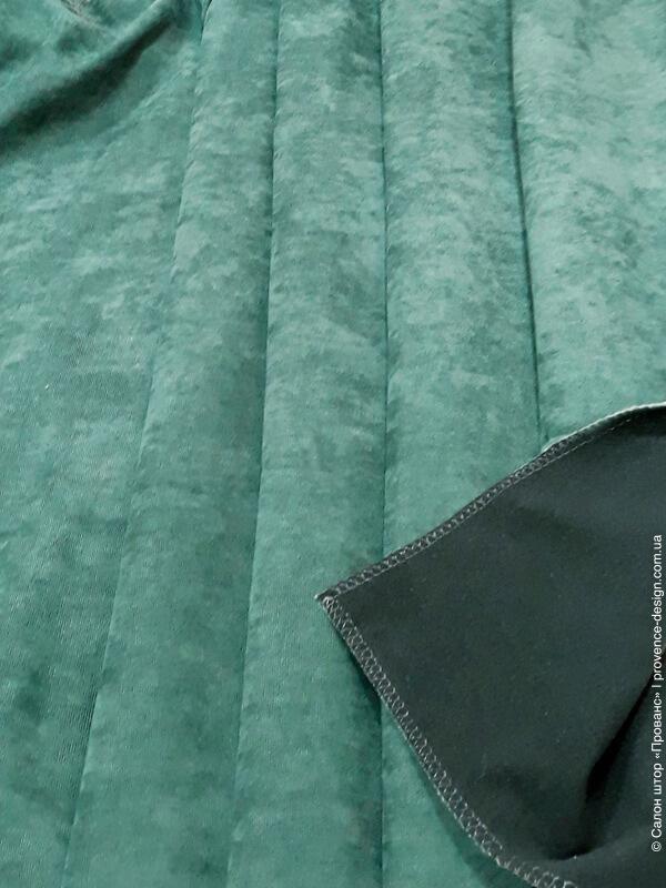 Термоткань для штор зеленая фото