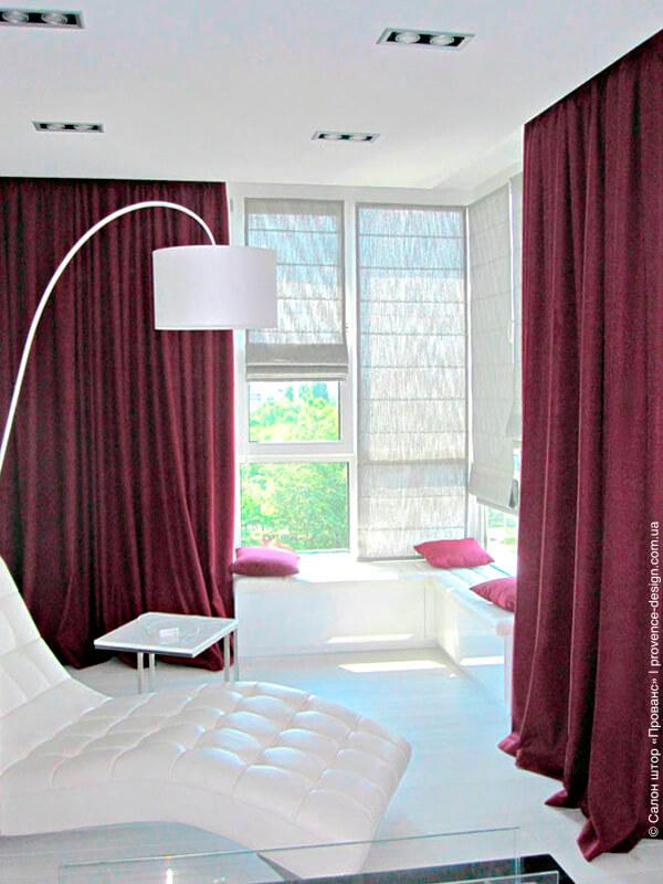 Портьеры и римские шторы в современном стиле фото