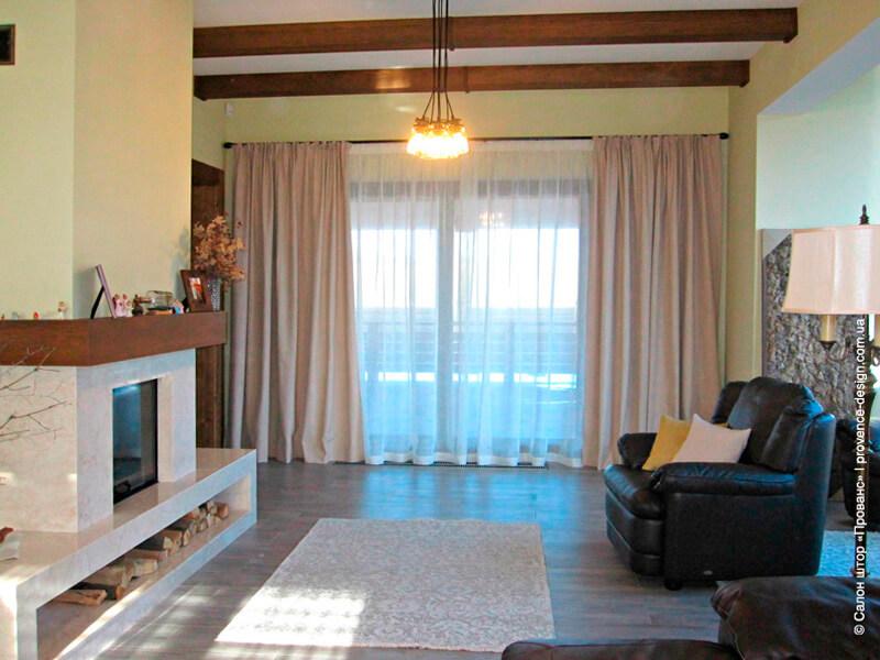 Льняные шторы для дома в современном стиле фото