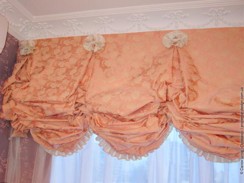 Австрийская классическая штора фото