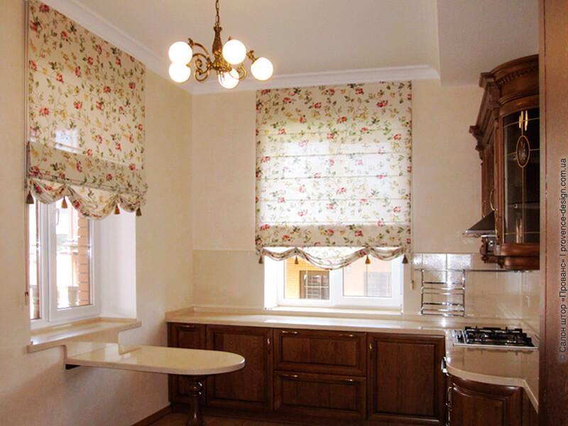 Римские шторы в классическом стиле с воланом фото