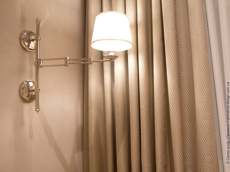 Ткань для штор в классическом стиле цвета тауп фото