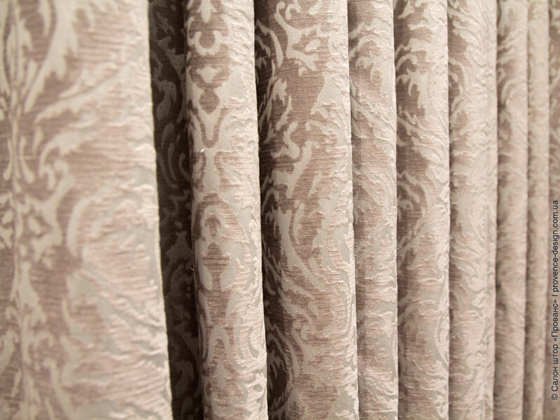 Ткань для штор классический вензель шенилл фото