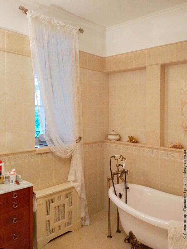 Бабушкин тюль в ванной в классическом стиле фото